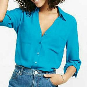 Express Convertible Sleeve Portofino Shirt - Teal